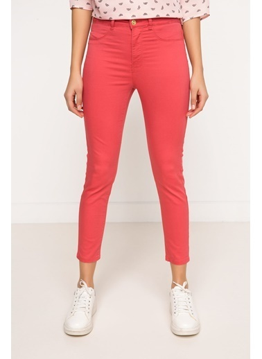 DeFacto Süper Skinny Pantolon Kırmızı
